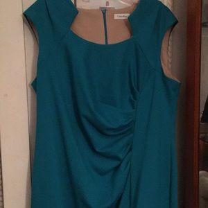 Turquoise party dress.  Calvin Klein 18w